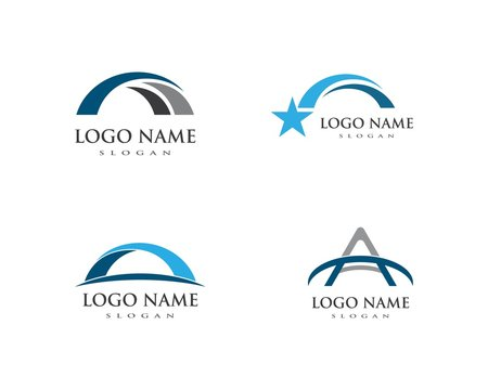 bridge ilustration logo vector