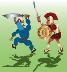 Swordmen in Combat