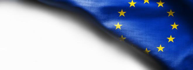Flag of european union on white background
