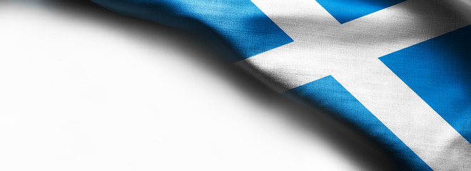 Flag of Scotland on white background