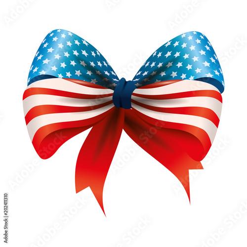 ribbon bowtie with usa flag vector illustration design stock image rh fotolia com Bow Tie SVG Fun Bow Ties