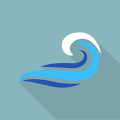 Drawing wave icon. Flat illustration of drawing wave vector icon for web