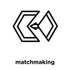 matchmaking icon isolated on white background