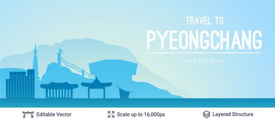 Pyeongchang famous city scape.