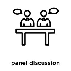 panel discussion icon isolated on white background