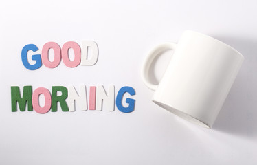 Good morning :Words on blurred background.