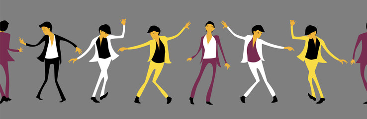 man dancing. seamless pattern