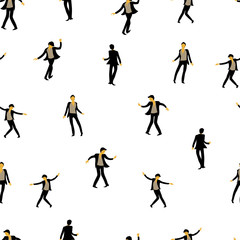 people dance. seamless pattern