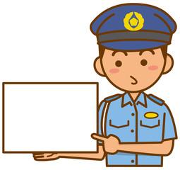 警察官のイメージイラスト(夏服)