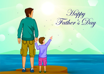 Happy Father's Day greeting background