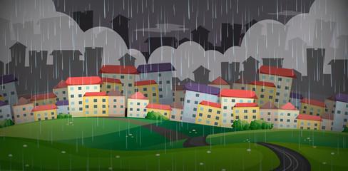 Raining Over the Big City