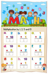 Mathematics Worksheet  Multiplication Number Chapter