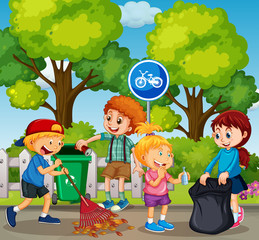 Good Kids are Cleaning Park