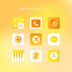 Basic Simple Mobile Icon Set