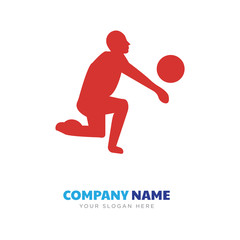 black volleyball company logo design