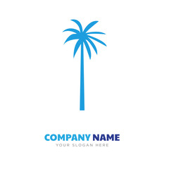 black palmetto tree company logo design