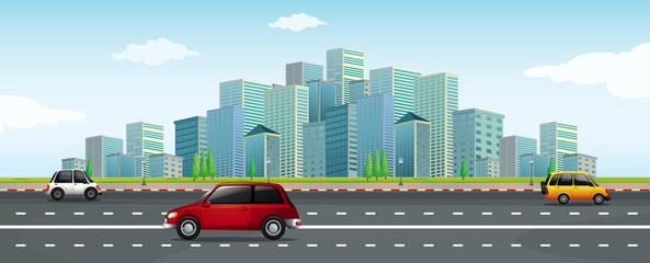 Driving a Car in Big City
