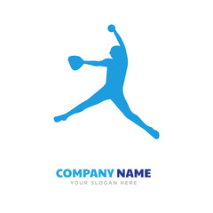 softball player company logo design