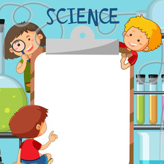 Kids in Science Note Template