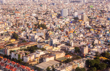 Ho Chi Minh City's high-rise office building in Vietnam