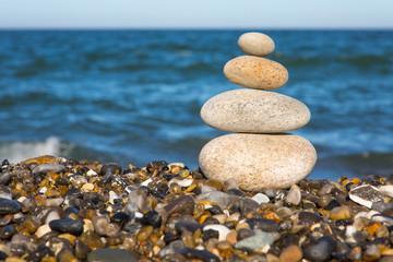 Spa Stones On The Beach