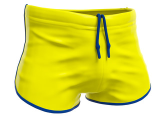 typical yellow swim trunks