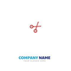 Scissors closed company logo design