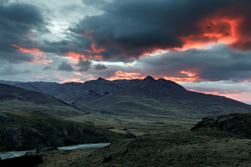 Sunrise over the Los Glaciares National Park
