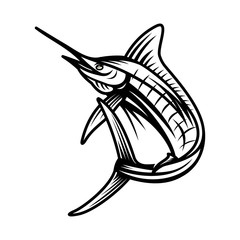 Marlin, Fish vector illustration template