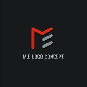 ME logo concept, vector Illustration template
