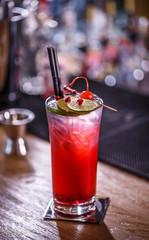 Non-alcoholic pomegranate cocktail