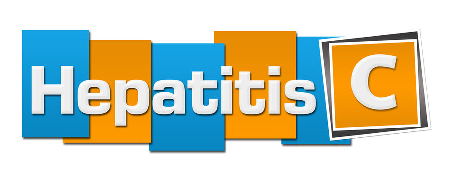 Hepatitis C  Blue Orange Stripes Squares