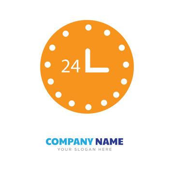 24 hr company logo design