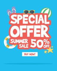 Summer sale banner background layout