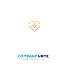 heart star company logo design