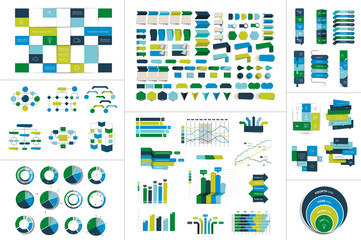 Mega set of Infographic element.  Vector.