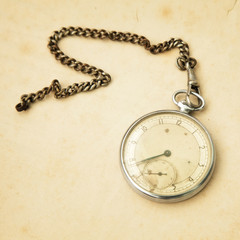 Old pocket watch and copy space for your text