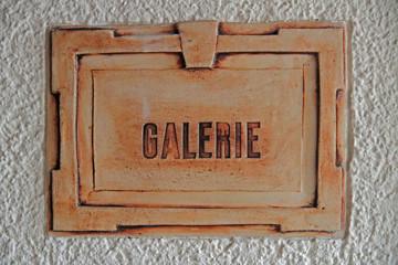 Galerie-Schild