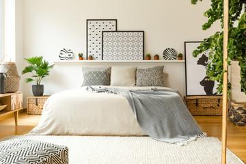 Warm bedroom interior
