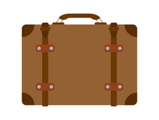 Brown Luggage Vector Illustration