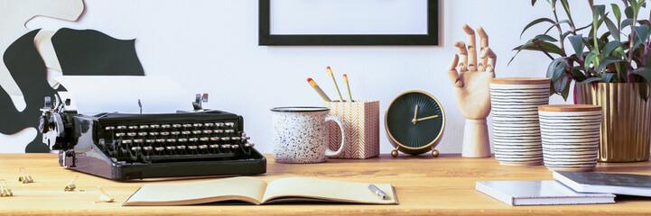Open notebook on desk