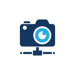 Camera Server Logo Icon Design