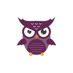 nice owl logo vector cartoon