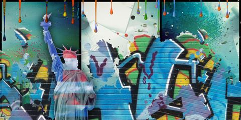 In de dag Graffiti Liberty