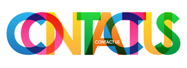 CONTACT US colourful letters banner