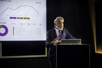 Man giving presentation