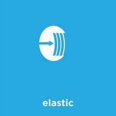elastic icon isolated on blue background