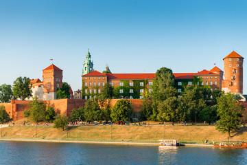 Foto op Aluminium Krakau Krakow, Poland - August 11, 2017: medieval famous landmark of the city of Krakow Wawel Castle