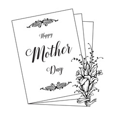 Happy mother day gretting card design