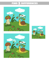 Find Differences Forest Snail